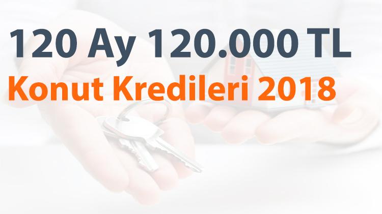 Ocak 2018 120.000 TL Konut Kredisi Faiz Oranları
